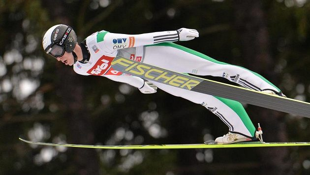 Roman Koudelka v Innsbrucku při závodě Turné v lednu 2015.