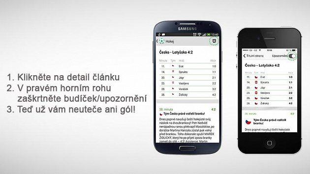 Takhle vypadá mobilní aplikace Sport.cz.