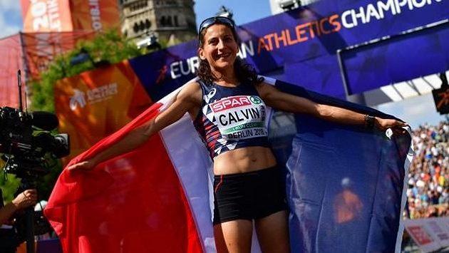 Vicemistryně Evropy v maratonu Clémence Calvinová z Francie - ilustrační foto