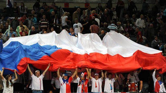 Čeští fanoušci.