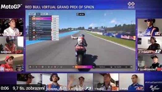 Maverick Viňales vyhrál virtuální GP v Jerezu.