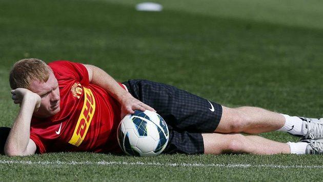 Paul Scholes z Manchesteru United.