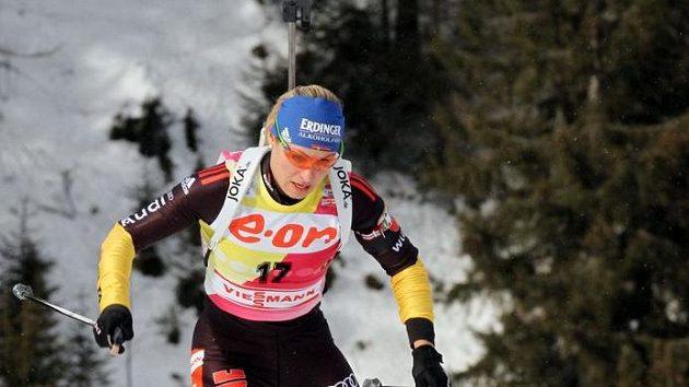 Německá biatlonistka Magdalena Neunerová.