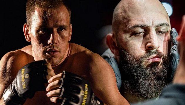 Viktor Pešta (vlevo) a Michal Martínek. Kdo urve titulovou bitvu těžkých vah?