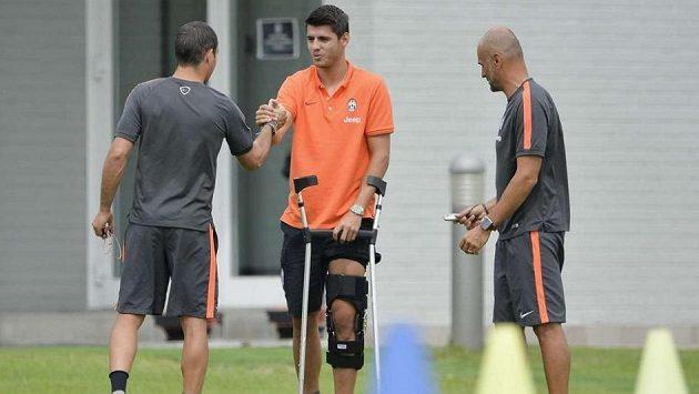 Álvaro Morata se hned na svém prvním tréninku v Juventusu zranil.