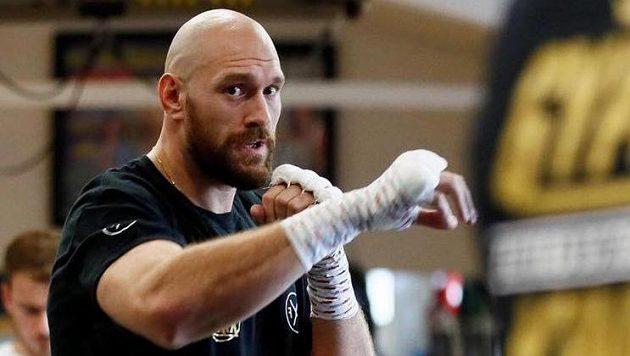 Tyson Fury v tréninku.