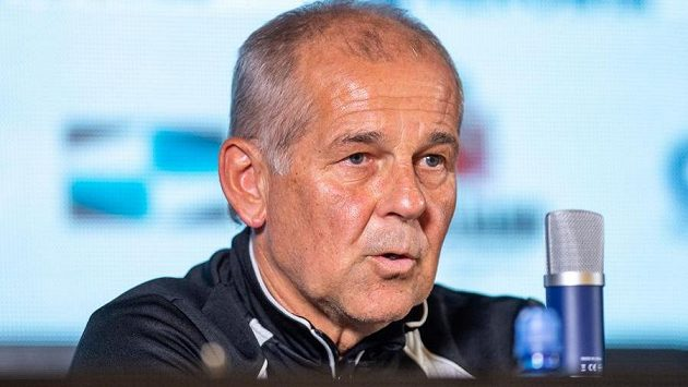 Trenér FK Jablonec Petr Rada na tiskové konferenci