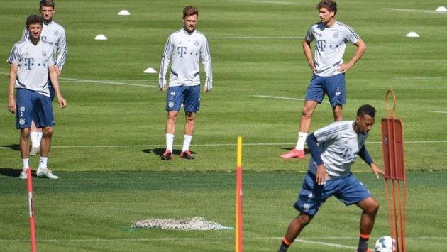 Fotbalisté Bayernu Mnichov během tréninku
