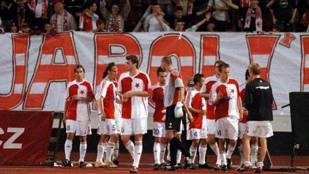 Fotbalisté pražské Slavie
