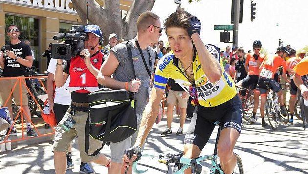 Celkový vítěz závodu Kolem Kalifornie George Bennett z Nového Zélabndu.