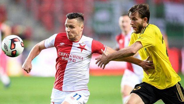 Stanislav Tecl ze Slavie a Jan Hošek z Karviné. Teď už bude obránce Hošek nastupovat za Teplice.