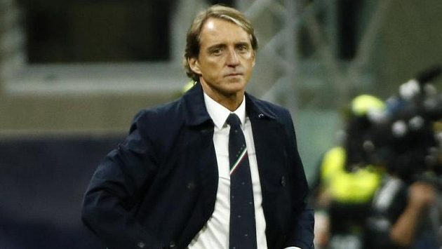 Trenér italských fotbalistů Roberto Mancini