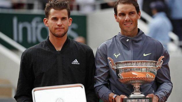Rafael Nadal s poraženým finalistou Dominicem Thiemem