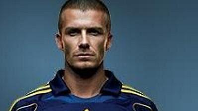 David Beckham v nových dresech Los Angeles
