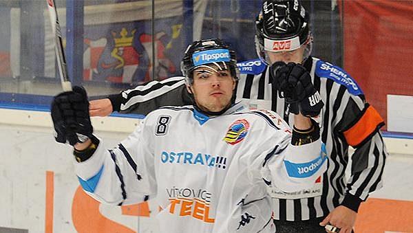 Vítkovický útočník Vojtěch Tomi se raduje ze svého gólu.