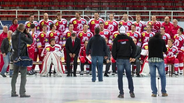 Fotografoání hokejistů Třince před startem nové sezóny.