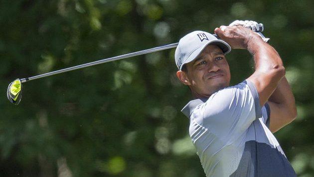 Tiger Woods na turnaji v Greensboro.