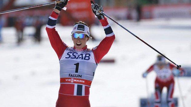 Norská běžkyně na lyžích Marit Björgenová na archivním snímku.
