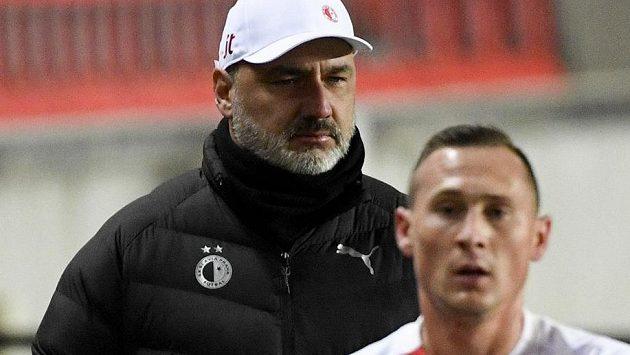 Trenér Slavie Jindřich Trpišovský byl po utkání hodně zklamaný