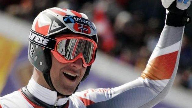 Norský lyžař Aksel Lund Svindal.