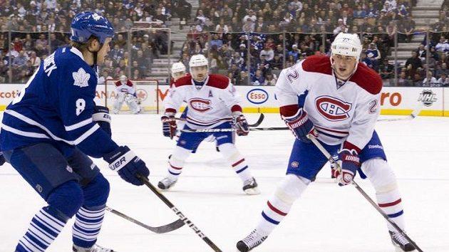 """Montrealský Tomáš Kaberle na svém """"domácím"""" ledě v Torontu..."""