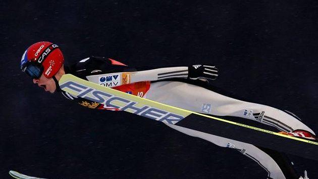 Skokan na lyžích Roman Koudelka v Oberstodrfu