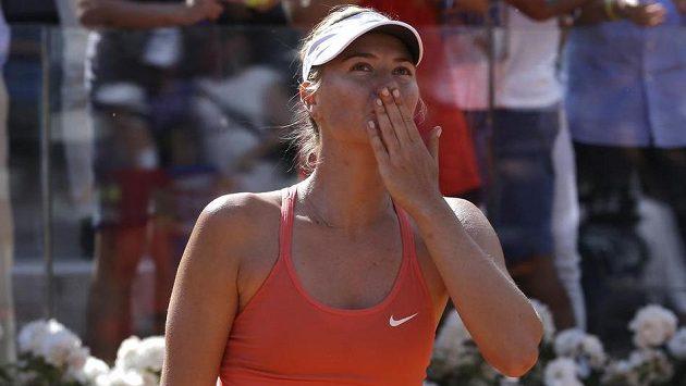Ruská tenistka Maria Šarapovová vyhrála potřetí turnaj v Římě.