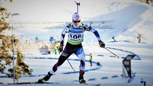 Junior Vítězslav Hornig na archivním snímku při závodech IBU Cupu v Sjusjoenu.