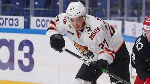 Dominik Mašín svou první brankou v Kontinentální hokejové lize pečetil vítězství Chabarovsku
