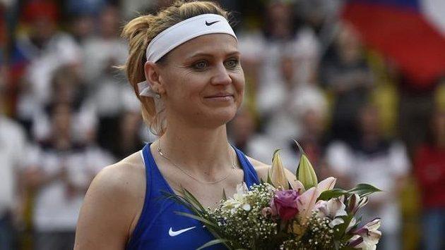 Lucie Šafářová měla při svém loučení s fedcupovoou kariérou slzy v očích