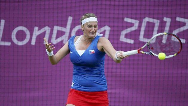 Petra Kvitová v prvním kole olympijské dvouhry.