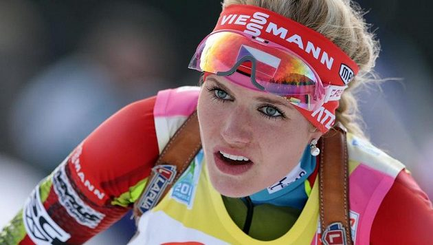 Česká biatlonistka Gabriela Soukalová.