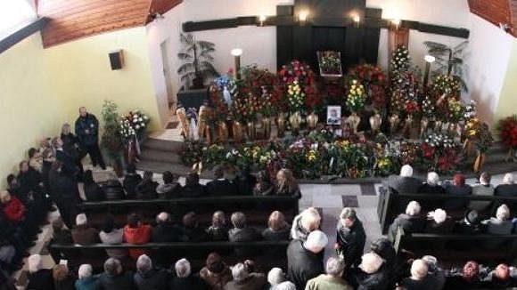 Pohřeb Jiřího Rašky ve Frenštátě pod Radhoštěm