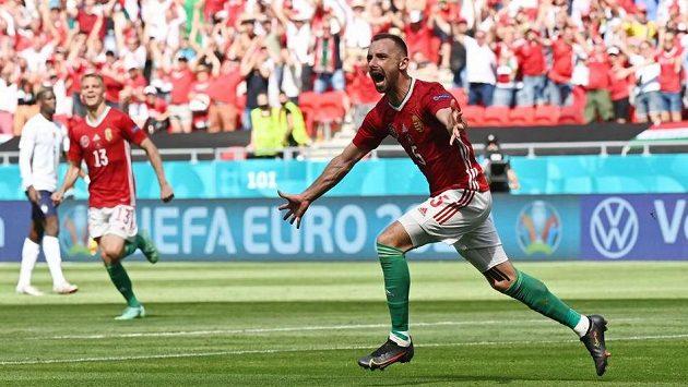 Maďar Attila Fiola otevřel skóre zápasu s Francií na ME ve fotbale.