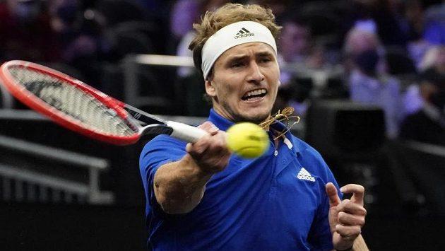 Německý tenista Alexander Zverev během nedávného Laver Cupu v Bostonu.
