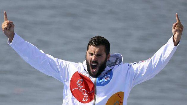 Euforie, nadšení, Josef Dostál a radost na stupních vítězů v Riu.