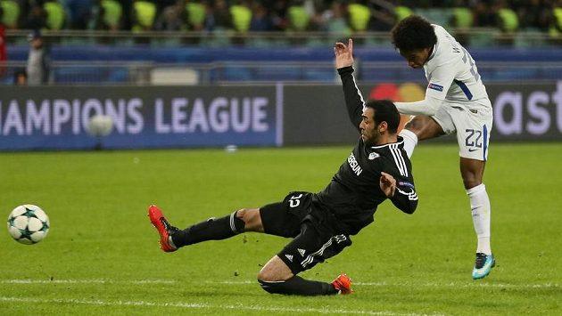 Tahle Willianova gólová trefa uzavřela účet utkání Chelsea - Karabach.
