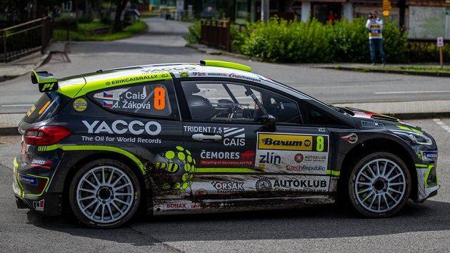 Barum Czech rallye Zlín, podnik mistrovství Evropy a ČR. Erik Cais a Jindřiška Žáková.