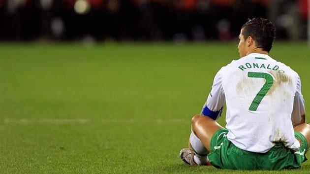 Zklamaný Cristiano Ronaldo