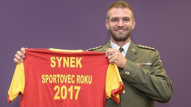Skifař Ondřej Synek, vítěz ankety Armádní sportovec roku 2017.