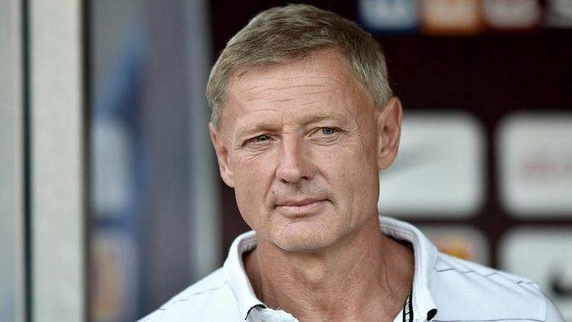 Trenér Sparty Zdeněk Ščasný měl v den utkání se Zlínem narozeniny.