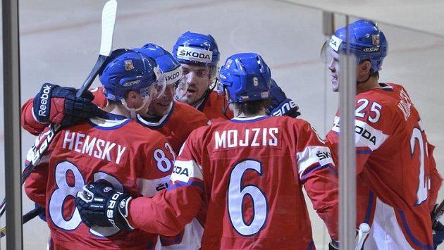 Tři góly zařídil proti Němcům útok ve složení Hemský, Koukal, Průcha.