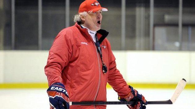 Trenér hokejistů Miloš Říha si se Slovákem Záborským zřejmě moc nesedl.