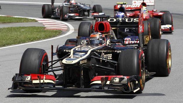 Pilot Lotusu Kimi Räikkönen při Velké ceně v Montrealu.
