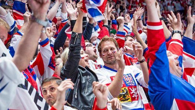 Čeští fanoušci během utkání národního týmu (ilustrační foto)