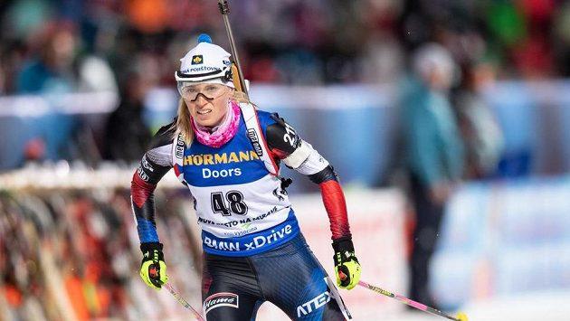 Eva Kristejn Puskarčíková na archivním snímku ze stíhacího závodu v prosinci 2018 v Novém Městě na Moravě.