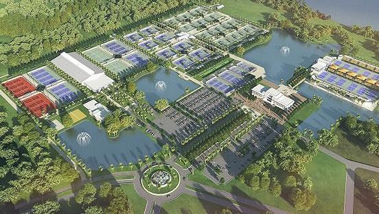 Takhle by mělo vypadat nové tenisové centrum v Orlandu na Floridě.