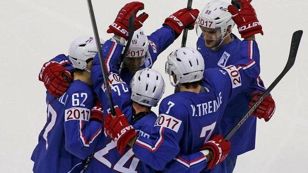 Radost francouzských hokejistů.