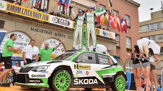 Jan Kopecký na Barum Rallye.