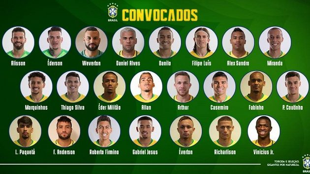 Brazílie zveřejnila nominaci k přípravným zápasům s Českou republikou a s Panamou.